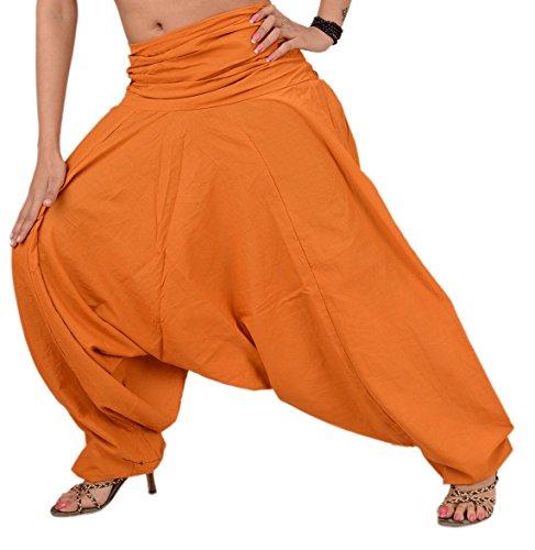 Skirts & Scarves - Pantaloni da donna in cotone, per yoga, colore viola Deep Orange 2