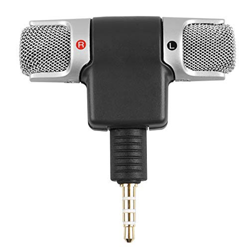 EEEKit Mini Portable Stereo Voice Sound Mic Microphone for Smart Phone PC w/ 3.5mm Jack (Best Voice Recording Mobile Phone)
