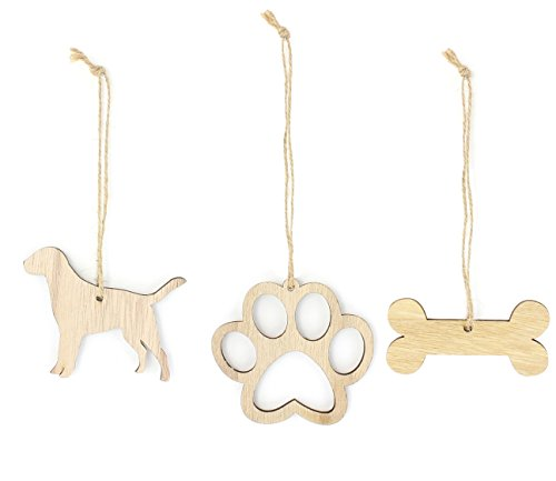 Labrador Dog Gift Box (Labrador Retriever Christmas Ornament Lab Dog Lover Gifts Wooden Christmas Ornaments 3-Piece Bundle)