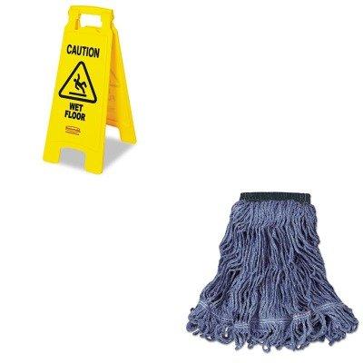 kitrcp611277ywrcpc152blu – Valueキット – Rubbermaid SwingerループWet Mopヘッド(rcpc152blu) とRubbermaid Caution Wet Floor床Sign (rcp611277yw) B00MONNKGW