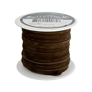 Realeather Crafts Suede Lace, 0.125-Inch Wide 25-Yard Spool,Café