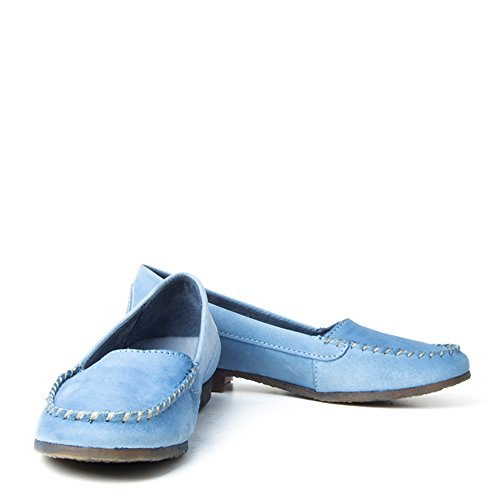 FelminiIndy 8715 - Bota mocasín Mujer, color azul, talla 40 EU