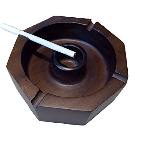 ZZSIccc Viet Nam mahogany wood carving stylish upmarket ashtray home furnishings antique smoking cylinder crafts swing. ()