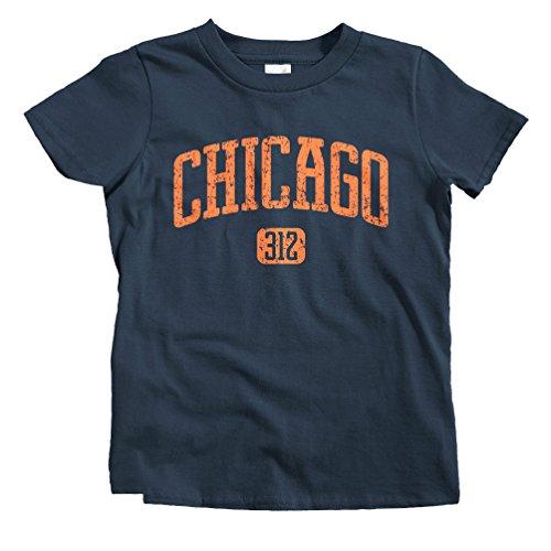 Smash Vintage Kids Chicago 312 T-Shirt - Navy, Baby - Park University Village