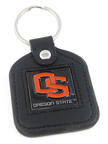 Oregon State Beavers Leather Square Key Ring