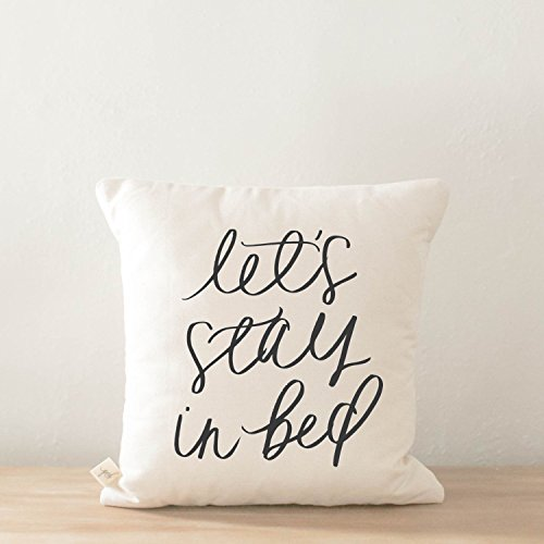 Pillow Cover - Let's Stay In Bed, home decor, present, housewarming gift, cushion cover, throw pillow, cushion, pillow case