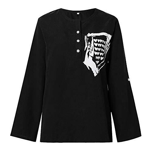 Longue Blouse Noir OVERMAL Sweatshirts Haut Manches Top 1 Femmes Chemise Mode Vetements et Chic T en Sexy Dcontracte Vrac Shirt Automne t qqwUt1