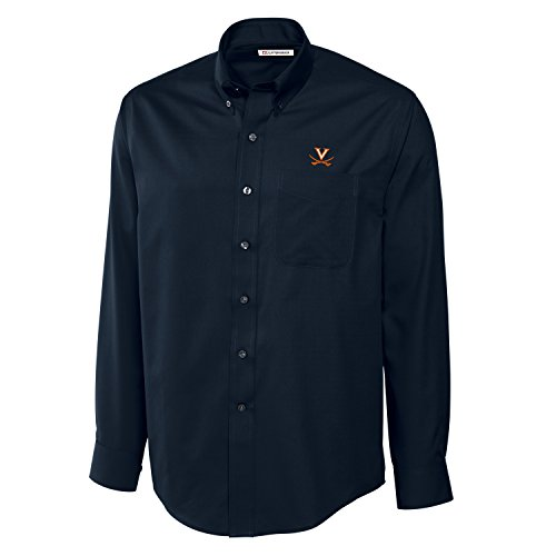 - Cutter & Buck NCAA Virginia Cavaliers Men's Long Sleeve Epic Easy Care Fine Twill Shirt, Large, Navy Blue