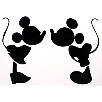 Amazon Com Mickey Mouse Kissing Minnie Mouse Decal Vinyl