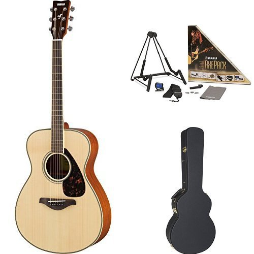 Yamaha FS820 Small Body Acoustic Guitar Natural with Yamaha Concert-Size Guitar Case and Accessory Pack [並行輸入品]   B07FS6TPTN