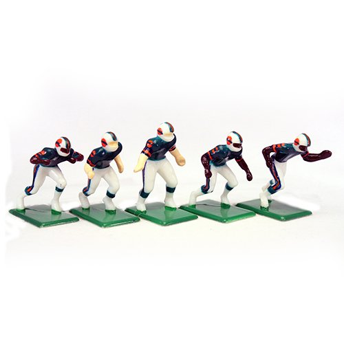 Hand Painted Dolphin - Tudor Games 3-12-D NFL Home Jersey - Miami Dolphins Hand Painted 11 Electric Football Players, Multicolor (Pack of 11)