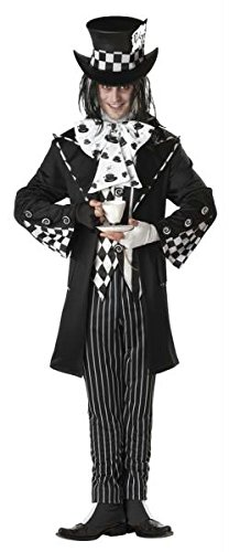 Morris Costumes Dark Mad Hatter Men Lg (Dark Alice And Mad Hatter Costumes)