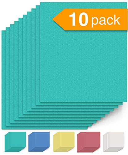 Swedish Dishcloth Cellulose Sponge Cloths - Bulk 10 Pack of Eco-Friendly No Odor Reusable Cleaning Cloths for Kitchen - Absorbent Dish Cloth Hand Towel (10 Dishcloths - Seafoam Green) -
