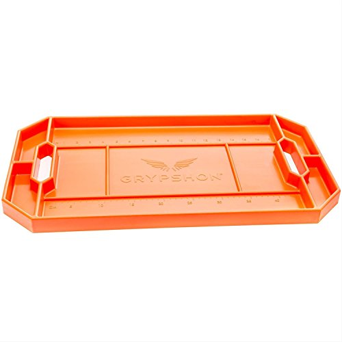 Grypmat | Non-Slip Flexible Orange Tool Tray | Tool Box Organizer | Socket Organizer | Tool Holder | Tool Mats | No Magnets | Easy Clean Up | As Seen On Shark Tank (Large)