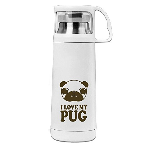 Kkajjhd Pug6 (2) Vacuum Insulated Stainless Steel Water Bottle