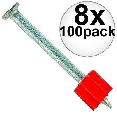 "Ramset 1524 Box of 100 3"" Head Drive Powder Fastener 8-Pack"