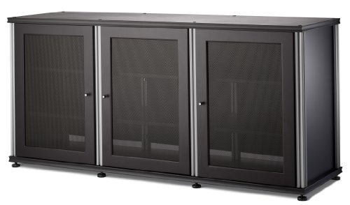 Salamander Designs SB339W/A Synergy Triple Wide A/V Cabinet with Doors and a Center Channel Opening