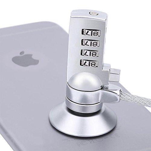 computadora portátil cerradura de combinación Cable de seguridad robo disuasivo con resistente de grosor negro cable de...