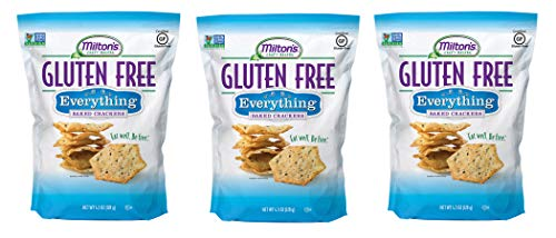 - Milton's Gluten-Free Baked Crackers Everything, 4.5 Ounces Ea. (Pack of 3)