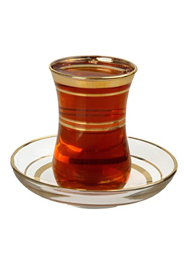 Turkish Tea Glasses Saucers Set product image