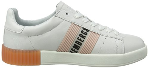 Bikkembergs Cosmos 2130, Sneaker Donna Bianco (White/Pink)