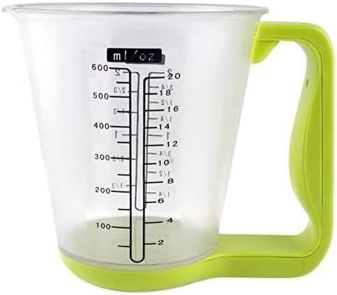 Bilancia elettronica bilancia elettronica da cucina con misurino/termometro (verde) hfhdqp