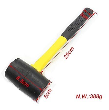 1 pieza de 8 oz//12 oz//16 oz martillo suave de doble cabeza con mango antideslizante para reparaci/ón multifuncional TOOLSTAR Mazo de goma para martillo