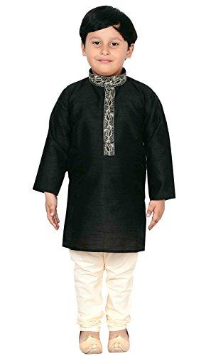 Boys Sherwani Kurta Pajama Bollywood Style Party outfit 913 (3 (3 yrs), Black) by Desi Sarees