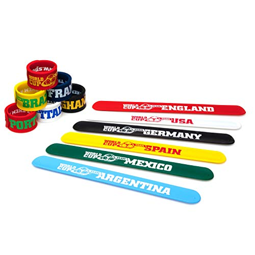 World Cup Slap Bracelets & Drawstring Bag (12 Pack) ()