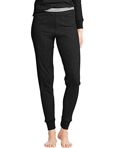 Hanes Women's Thermal Pants, Medium, Black