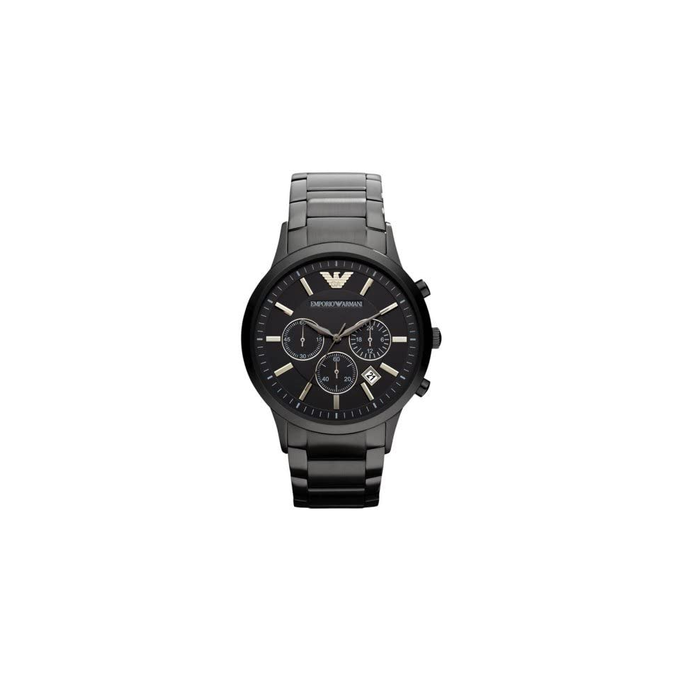 Emporio Armani Mens AR2453 Dress Black Mesh Watch