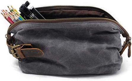 化粧ポーチ トイレタリーバッグメンズ防水コスメティックバッグポータブルビジネストラベルビジネス収納袋 ウォッシュバッグ (色 : A, Size : One size)