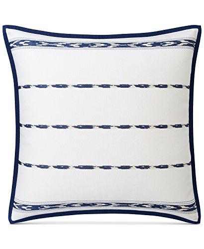 (RALPH LAUREN Luna Serape Euro Sham Indigo Blue and White 100% Cotton)