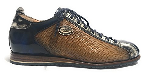 Harris - Zapatos de cordones de Piel para hombre Marrón BLU BROWN Marrón Size: 42 NiKg4
