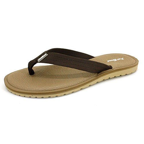 Ultimate Thong Flip Flop (Just Speed Women's Flip Flops, Comfort Thong sandals Padded Cushion Footbed and Flexible outsole, Camel/Brown-9)