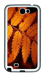 Samsung Note II Case Brown Autumn Leaves TPU Custom Samsung Note 2 Case Cover White