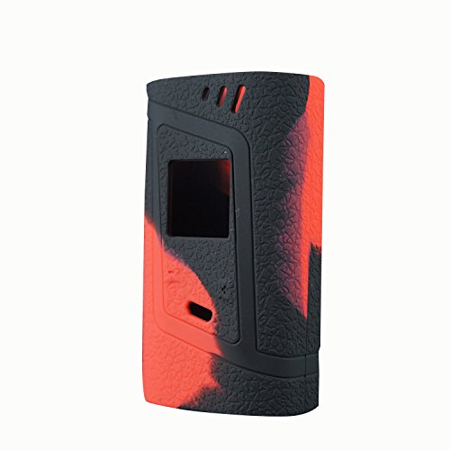 Rayley ModShield for Smok Alien 220w TC Silicone Case Alien 220W Skin Cover Sleeve Wrap Shield (Black Red)