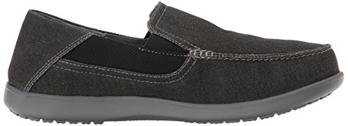Crocs Mens Santa Cruz 2 Luxe Mocassino Nero / Antracite