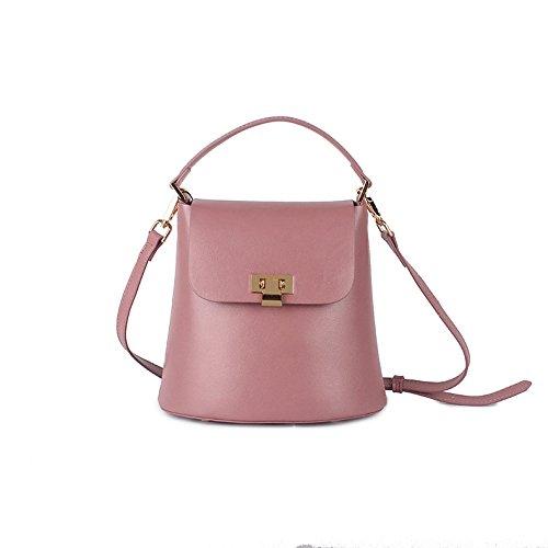 Sac Sacs Mode Casual Sauvage pink 2018 Dames YXLONG à Rétro Nouvelle En Cuir Xiaolong Seau Main Sac fxSq5wxP