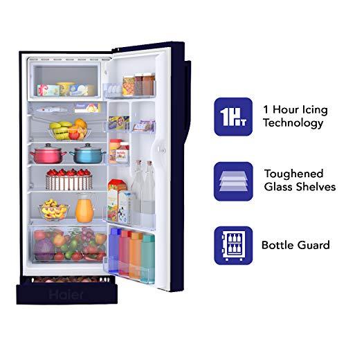 41eVdGN8%2BJL Haier 195 L 3 Star Direct-Cool Single Door Refrigerator (HRD-1953CPMF-E, Marine Freesia)