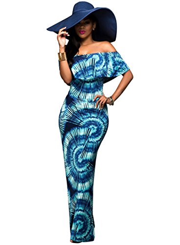 Dress Bohemia Backless Shoulder As Pictured Slim Sexy Bodycon Maxi Women Off Long Print SOaavx