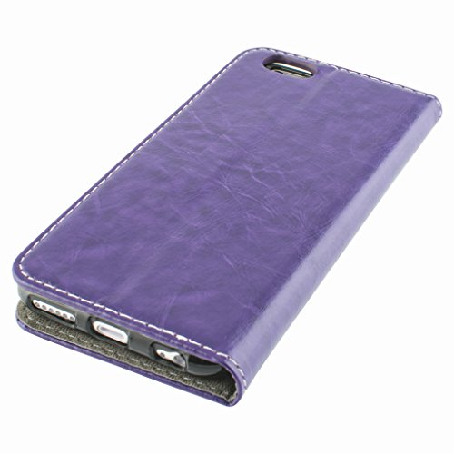 Good Quality Apple iphone 6 Case cover, Apple iPhone 6 Purple Designer Style Wallet Case Cover