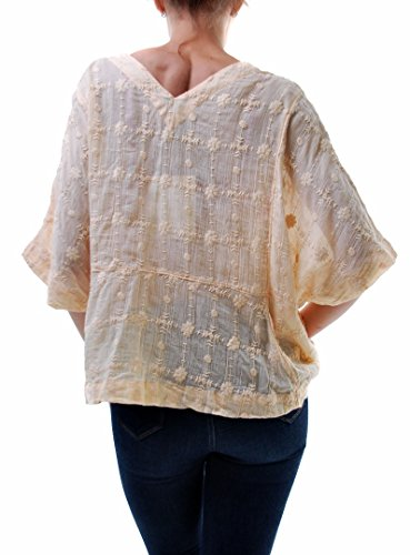 Free People Authentic Ambre Skies Top Peach Taille du peuple femmes XS
