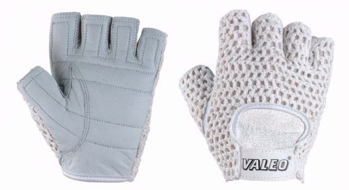 (Valeo GMLF Women's Meshback Lifting Gloves With Genuine Leather, Padded Palms, Cotton Mesh Backs, And Soft Terry Lining )
