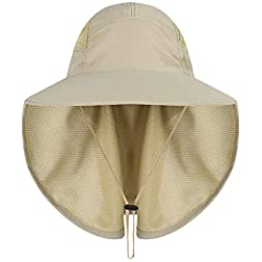 Outdoor Sun Hat Wide Brim UV Protection Fishing Hiking Caps with Face Neck Flap Cover for Men & Women Face Cover Summer Features: Fashion design,100% Brand New,high quality! 1.The 360 degree sun protection outdoor sun hat has the mask and...