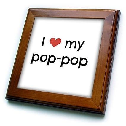 3dRose Love pop-Framed Tile 8 by 8-inch ft/_202821/_1