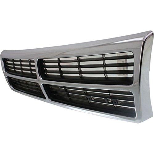 Diften 102-A7289-X01 - New Grille Assembly Grill Chrome Dodge Caravan 95 94 93 92 91 CH1200145 4676010 (1992 92 Dodge Grand Caravan)