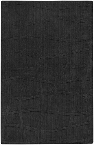 Surya SCU7501-58 Sculpture Olive Plush High/Low Pile Hand Carved Rug, 5' x 8', Pewter ()