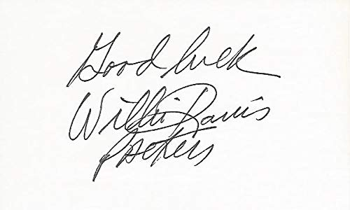 Willie Davis Signed - Autographed 3x5 inch Card - Guaranteed to pass - Green Bay Packers - 2x Super Bowl Champions - JSA Certified