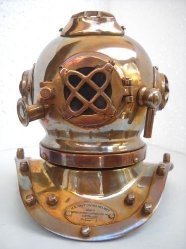 Deep Diving Scuba Style Vintage Retro Mini Divers Helmet Costume Collectibles DIVERS DIVING HELMET